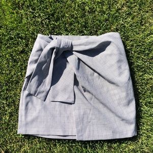 Zara Grey Plaid Skirt with Wrap/Tie